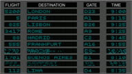 Airport Departure Board - Blue video