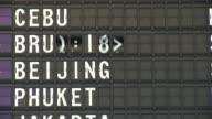 HD Airport departure board = HDV140 video