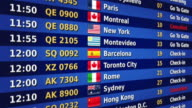 Airport departure board. Orange and blue. video
