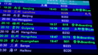 Airport Departure Board video