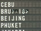 NTSC Airport departure board video