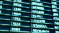 Airport Departure Board video