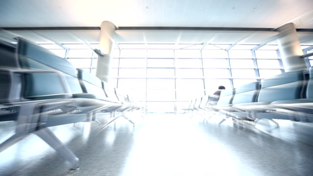 Airport Departures terminal video