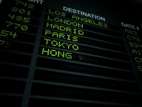 Airport Flight Information Board video