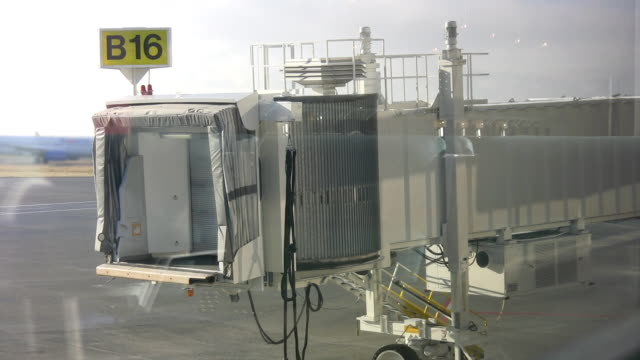 Airport loading gate. video