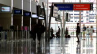 Airport People Time Lapse video