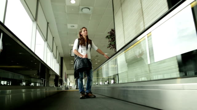 Airport Solo Woman Traveler video