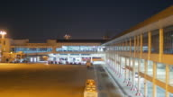 Airport Terminal outside at night time video