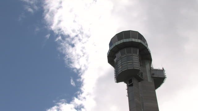 HD Airport tower time lapse video