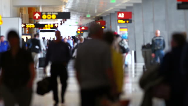 Airport Travelers Sequence People video