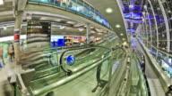 Airport Travelers Time Lapse Bangkok Fisheye video