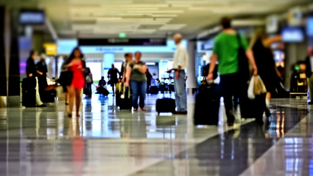 Airport Travelers Time Lapse video