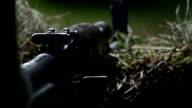 Ak 47 assault rifle rear site firing from cover video