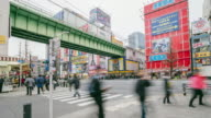 Akihabara district in Tokyo, Japan. Akihabara is famous as a major shopping center for electronic goods and anime and manga. video