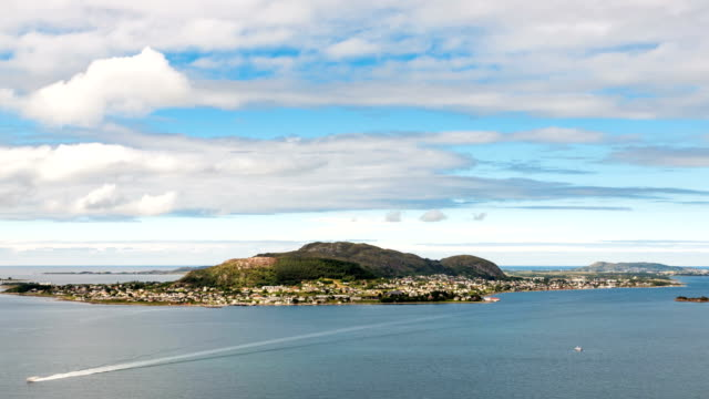 Aksla at the city of Alesund , Norway video