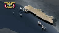 Al Hudaydah with Coat of arms animation map video