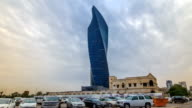 Al Tijaria Tower in Kuwait City timelapse hyperlapse. Kuwait, Middle East video