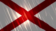 Alabama State Loopable Flag video