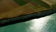 Alabaster Coast  - Aerial View - Haute-Normandie, Seine-Maritime, France video