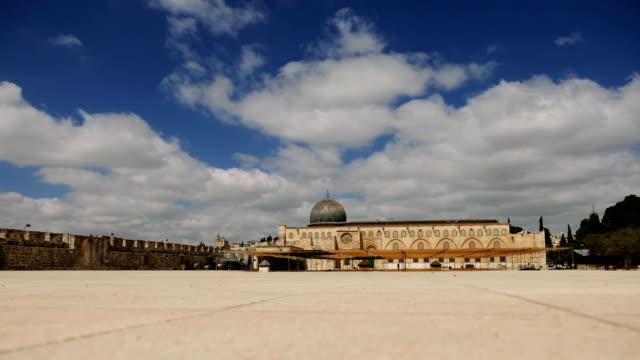 Al-Aqsa Mosque in Jerusalem timelapse video