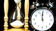 Alarm clock and Hourglass - Real Time video