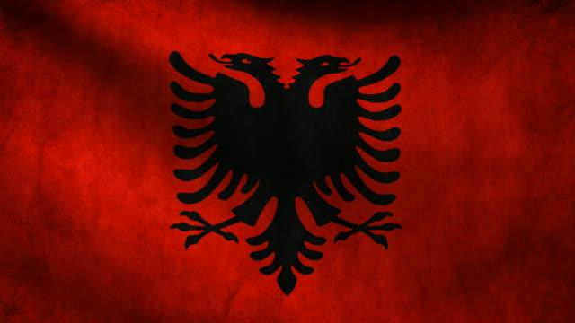 Albania flag. video