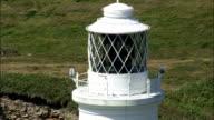 Alderney,  lighthouse - Aerial View - helicopter filming,  aerial video,  cineflex,  establishing shot,  Guernsey video