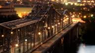 Alexandra Bridge Ottawa Timelapse Night video