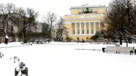 Alexandrinsky Theatre in winter video