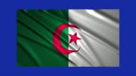 Algeria flag waving,loopable on blue screen video