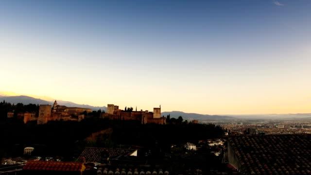 Alhambra at sunset video