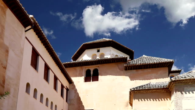 Alhambra Palace - medieval moorish palace in Granada, Andalusia, Spain video