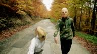 Alien mask. video