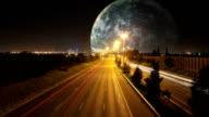 Alien Space Earth Timelapse HD video