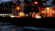 Ali'I Drive Kailua-Kona Hawaii At Night Just After Sunset video