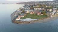 Alki Point Lighthouse Aerial Shot video