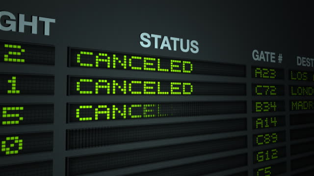 All Flights Canceled, Flight Information Board video