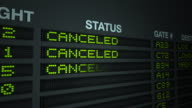 All Flights Canceled - Information Board video