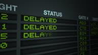 All Flights Delayed, Flight Information Board video