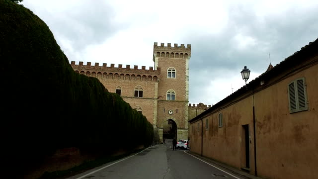 Alley and beautiful tower on background,Italy video