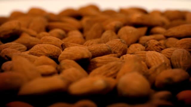 Almonds Rotating Closeup video