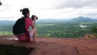 Alone female explorer tourist video