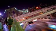 along Brooklyn Bridge video