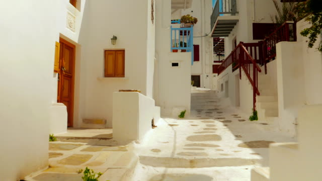 POV Along Cycladic Streets During Daytime video