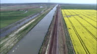 Along New Cut  - Aerial View - England, Norfolk, South Norfolk District, United Kingdom video