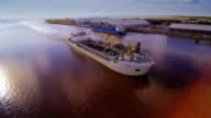 Along the industrial coast in Parnu Estonia video