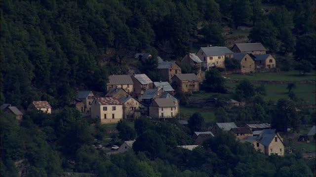 Alpes Maritimes And Village Of Braux  - Aerial View - Provence-Alpes-Côte d'Azur, Alpes-de-Haute-Provence, Arrondissement de Castellane, France video