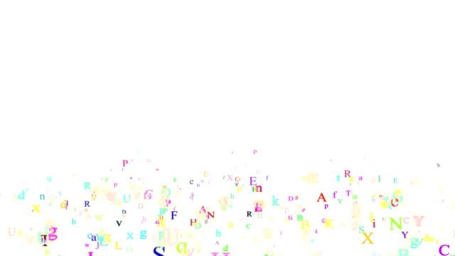 Alphabet, isolated on white background video