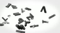 Alphabet Letters Background Loop - Black & White (Full HD) video