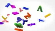 Alphabet Letters Background Loop - Colorful (Full HD) video
